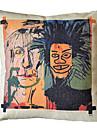 Basquiat klottra bomull dekorativa örngott