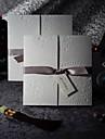 eșantion elegant invitatie de nunta relief tri-ori cu arcuri de argint (un set)