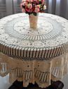 100% Coton Rond Nappes de table Fleur Economique Decorations de table 1 pcs