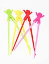 betisoarele de învățare papusa de silicon portabil (culori aleatorii 1 pereche)