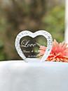 Vârfuri de Tort Personalizat Inimi / Cuplu Clasic Cristal Nuntă / Petrecerea Bridal Shower / Aniversare Temă Grădină Cutie de Cadouri