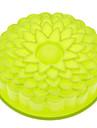 solrosformad silikonkaka form slumpmässig färg