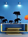 Tre Elephant at Dusk Wall Sticker
