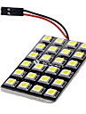 T10 / Feston / BA9S Bil Elpærer 3 W SMD LED 600 lm LED Indvendige Lights