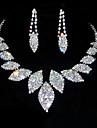 Pentru femei Ștras Set bijuterii - Ștras, Aliaj Argintiu