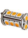 SENCART 3500lm G4 Becuri LED Corn 15 LED-uri de margele SMD 5050 Alb Cald 12V