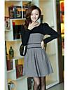 Tweed lînă femei Spicing rochie mini
