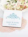 Personalizate Vintage nunta florale pahare-Set de 4 (mai multe culori)