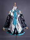 Esinlenen Vocaloid Hatsune Miku Video oyun Cosplay Kostümleri Cosplay Takımları / Elbiseler Kırk Yama Kolsuz Gömlek / Etek / Kollar Cadılar Bayramı Kostümleri