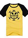 Inspirat de One Piece Trafalgar Law Anime Costume Cosplay Topuri Cosplay / Bottoms Imprimeu Manșon scurt Geacă Pentru Bărbați