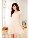 Plus dimensiunea papusa guler croșetat broderie rochii mini femei