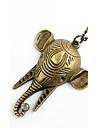 Aliaj de moda cu stras Colier elefant cap femei pandantiv în formă de lui