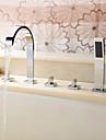 Robinet de baignoire - Moderne Chrome Baignoire romaine Soupape ceramique