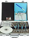 Piercing Kit Permanent Makeup Kit Supplies Kropp Liner och Shader Tunga VCD Piercing Scissors Case