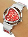 Pentru femei Ceas La Modă Ceas Brățară Simulat Diamant Ceas Quartz imitație de diamant Bandă Heart Shape Atârnat Argint