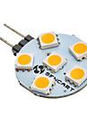 G4 6 lysdioder SMD 5050 Varmvit 60-80lm 3000K AC 12V