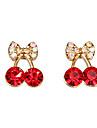 Pentru femei Cercei Stud Cute Stil Cristal Diamante Artificiale Aliaj Vișiniu Fruct Bijuterii Petrecere Zilnic