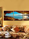 panza Set PeisajTrei Panouri Orizontal print Arta Decor de perete For Pagina de decorare