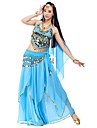 Belly Dance Outfits Women\'s Chiffon Beading Sequin Coin Natural