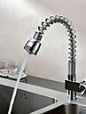 Nutida Utdragbar / Pull-down Horisontell montering Förskölj Utdragbar dusch Keramisk Ventil Ett hål Singel Handtag Ett hål Krom, Kökskran