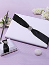 Guest Book Pen Set Satin Garden ThemeWithRhinestone Sash