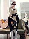 Femei Contrast culoare Cape maneca asimetrice Hem Pulover