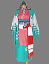Inspirat de Blue Exorcist Shiemi Moriyama Anime Costume Cosplay Costume Cosplay Kimono Geometric Manșon Lung Yukata Accesoriu de Păr