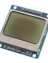 """(För Arduino) kompatibel 1.6 """"LCD nokia 5110 modul med blå bakgrundsbelysning"""