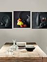 Intins Canvas arta de imprimare Still Life olari Set de 3