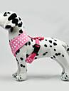 Hund Selar Justerbara / Infällbar Prickig Tyg Svart Grön Blå Rosa