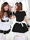 Fată dulce negru și alb de poliester curatenie uniforme