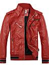 roșu și cald jacheta de piele pentru bărbați