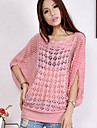 Femei pulover subțire libere Batwing Sleeve Knit Pulover Bluza