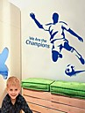 Football Man bricolage adhésif amovible Sticker Nous sommes les champions