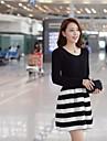 Femei Bodycon Striple Îmbinare Mini Dress