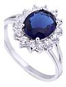 Yueli femei 18K aur zircon Ring J1513