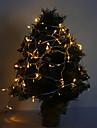 10m 6w 100-ledd 420lm varm vitljus ledd stripljus för dekorationer med 8 displaylägen (220v)