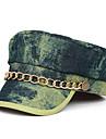 Oyear Navy Style Metal lanț Denim Olive plat Cap