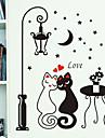 natt street älskare katt mönster pvc diy tapet