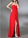 Kappe / kolonne stroppeløs kjære gulvlengde chiffon militær ball kjole med side draping av ts couture®