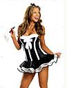 servitoare negru costum de Halloween sexy femei adulte (2 bucati)