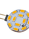 5W G4 Spot LED 12 diodes electroluminescentes SMD 5730 Blanc Chaud Blanc Froid 420-500lm 2800-3000K DC 12 AC 12V