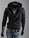 Shangdu Oblique Fermoar Hoodie (Negru)