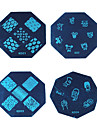 1PCS Nail Art Stamp Stamping Blue Image Template Plate KD Series NO.21-24 (Assorted Colors)