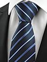 """New dungi albastru Jacquard Men """"Tie Cravată costum pentru petrecere de vacanță de cadouri"""