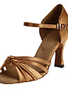 Femei stras Satin Upper Hollow-out de bal dans latino Sandale Pantofi de dans