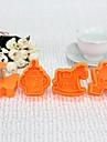 Plastic 3D Baby Around Cookie Mould Set de 4 buc