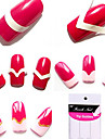 96st Blandade Mönster French Manicure Tip Guides