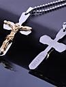 Personalizate cadouri din oțel inoxidabil Isus Biblii Cross formă gravate colier pandantiv cu lanț 60cm