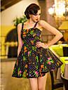 TS Dot Print Vest Dress